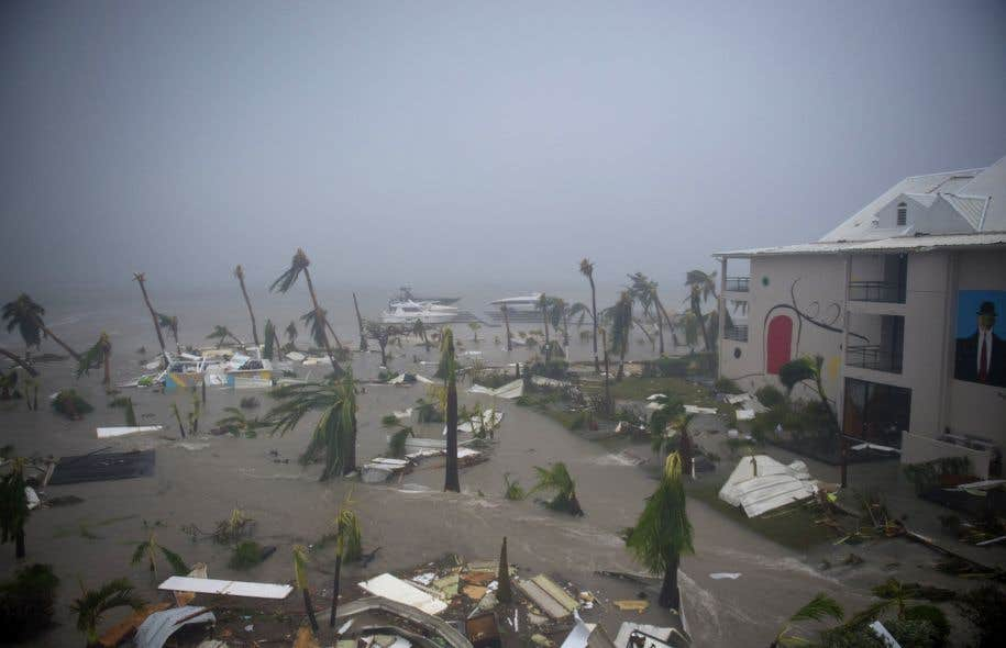 L'Hôtel Mercure, à Marigot, pendant le passage d'«Irma», le 6 septembre