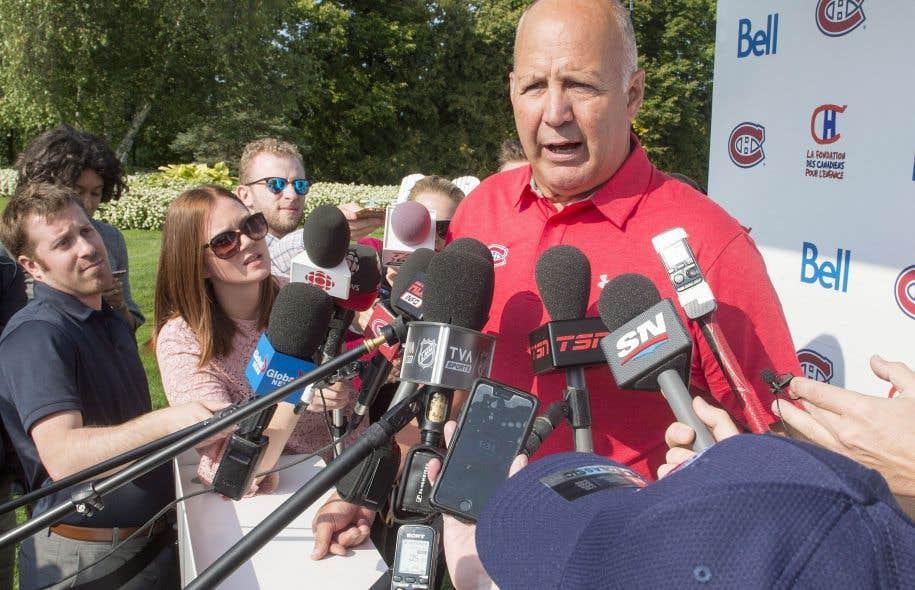 L'entraîneur-chef de l'équipe, Claude Julien, s'est entretenu avec les médias, lundi, en marge du tournoi de golf annuel, à Laval.