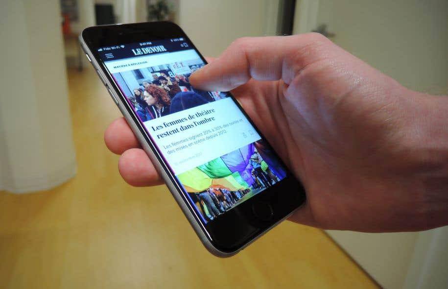 «Le Devoir» a lancé cette application destinée aux téléphones en décembre 2016, amorçant une nouvelle étape dans sa transformation numérique.