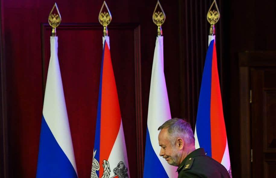 Le vice-ministre russe de la Défense,Alexandre Fomine, le responsable des exercices Zapad-2017