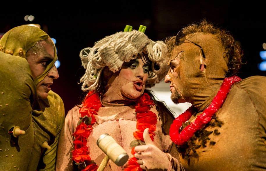 Ils s'appellent Wannabe, Douchebag et Lacharrue: trois monstres difformes aux corps verruqueux.