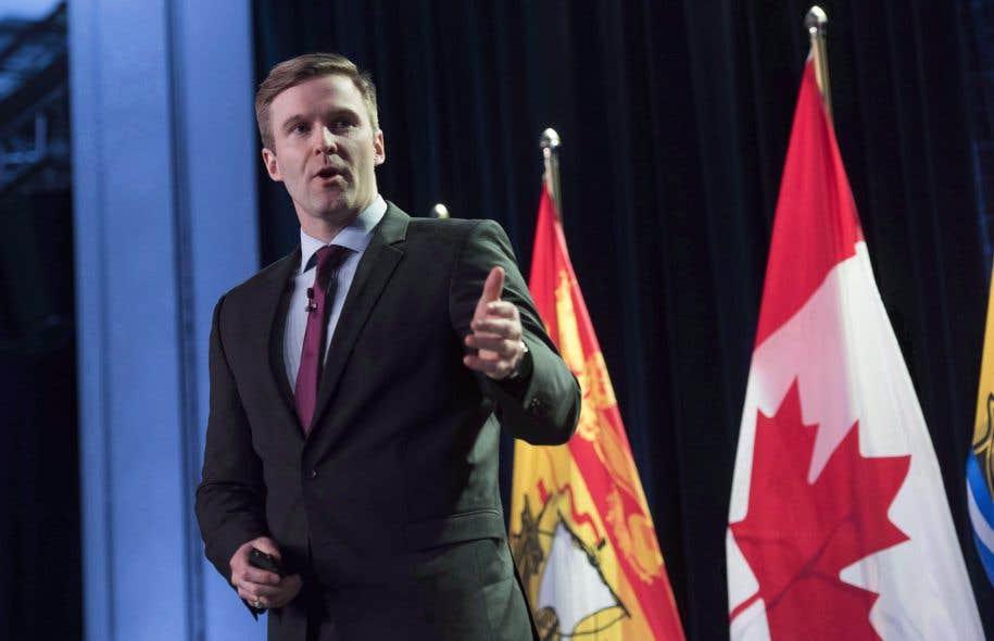 Le premier ministre du Nouveau-Brunswick, Brian Gallant