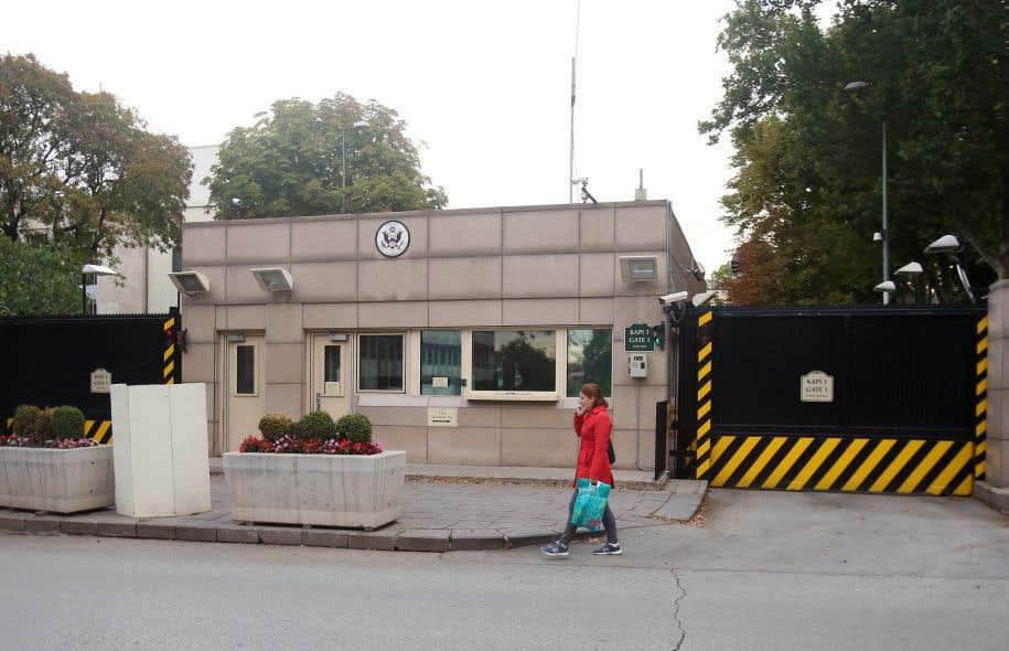 L'ambassade américaine à Ankara, en Turquie