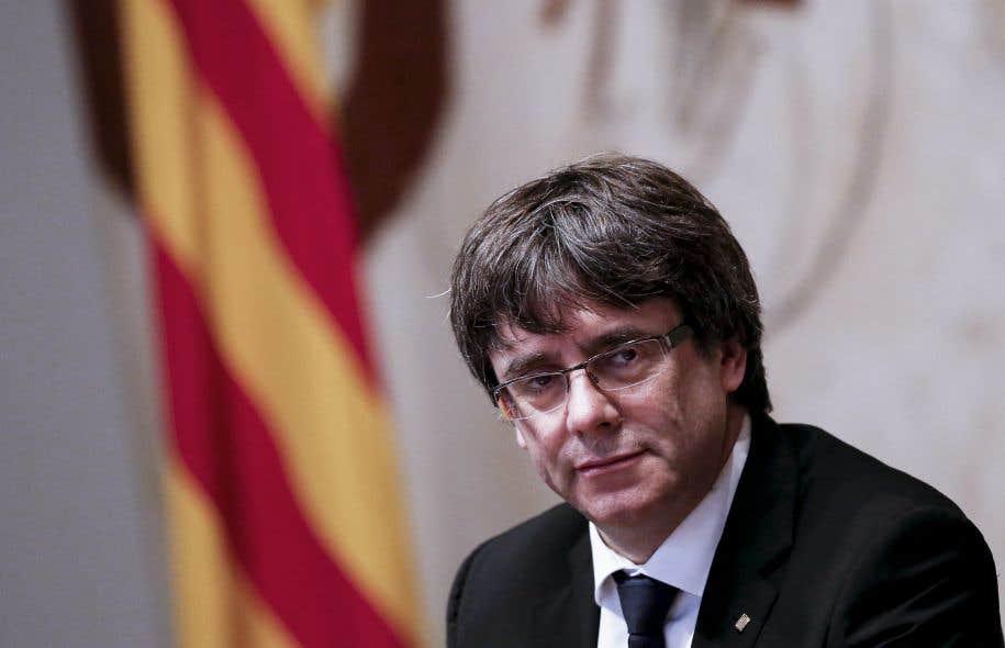 Le président indépendantiste de la Catalogne,Carles Puigdemont