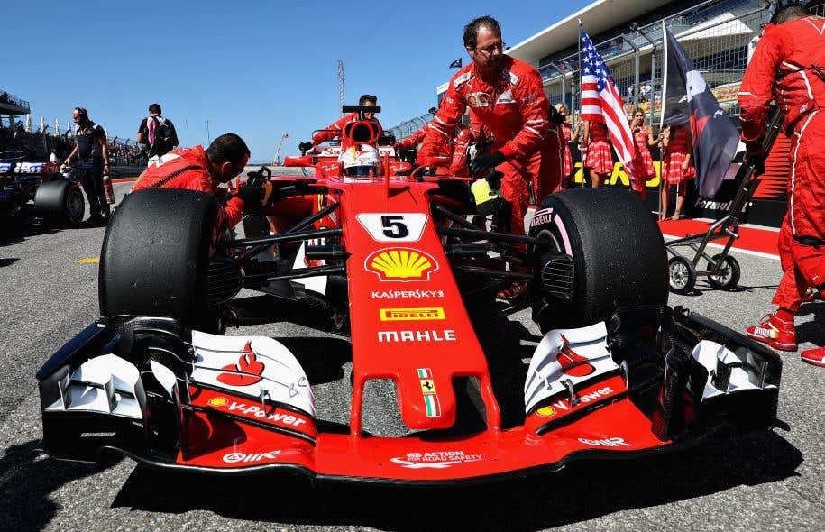 Vettel décroche la position de tête au Mexique