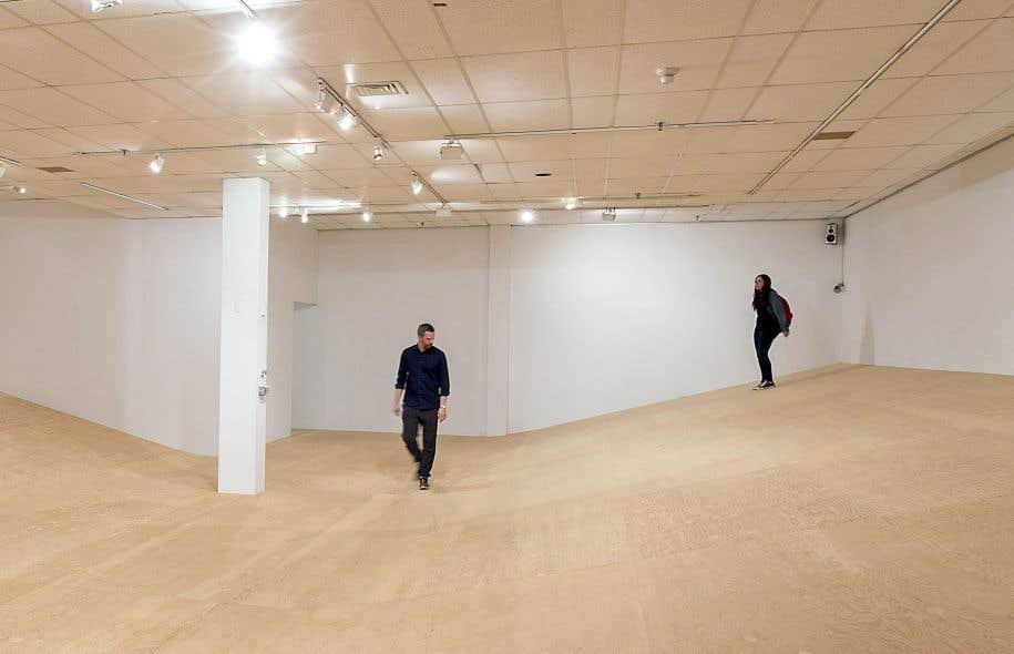 L'œuvre «Une place idéale» (2017) d'Alexandre David est emblématique du projet ouvert et modulable rêvé au MACL.