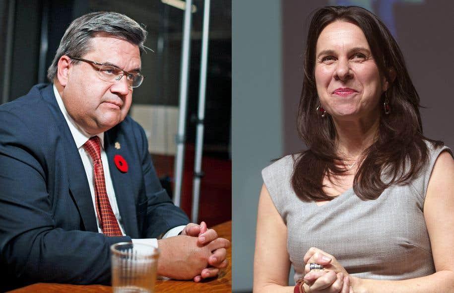 À Montréal, le maire sortant, Denis Coderre, affronte la chef de Projet Montréal, Valérie Plante, dans une lutte particulièrement serrée.