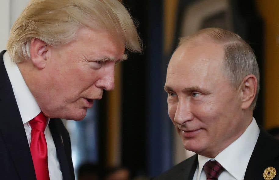 Le président américain, Donald Trump, et son homologue russe, Vladimir Poutine.