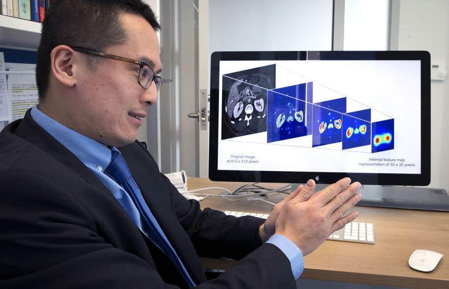 Au Centre de recherche du CHUM, le Dr An Tang, radiologiste, participe au développement d'un logiciel capable de dépister et d'analyser seul des tumeurs cancéreuses.