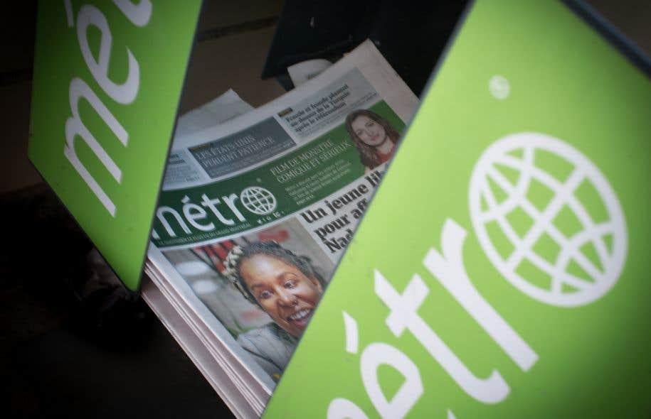 <p>Le journal «<em>Métro»</em>compte en moyenne 1260000 lecteurs de ses versions imprimée et numérique, selon le dernier sondage Vividata.</p>