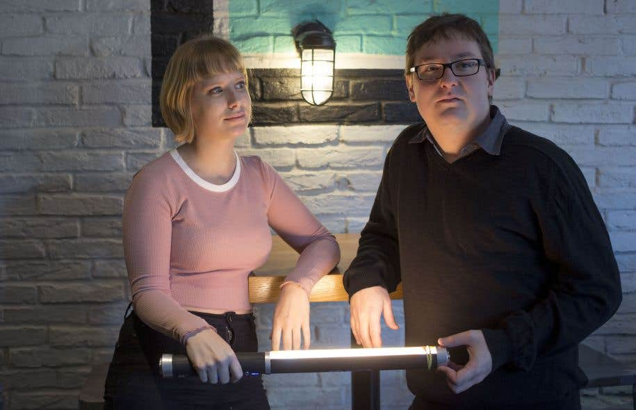 Stéphanie Roussel et Éric Falardeau, deux des auteurs du livre sur Ciné-Cadeau