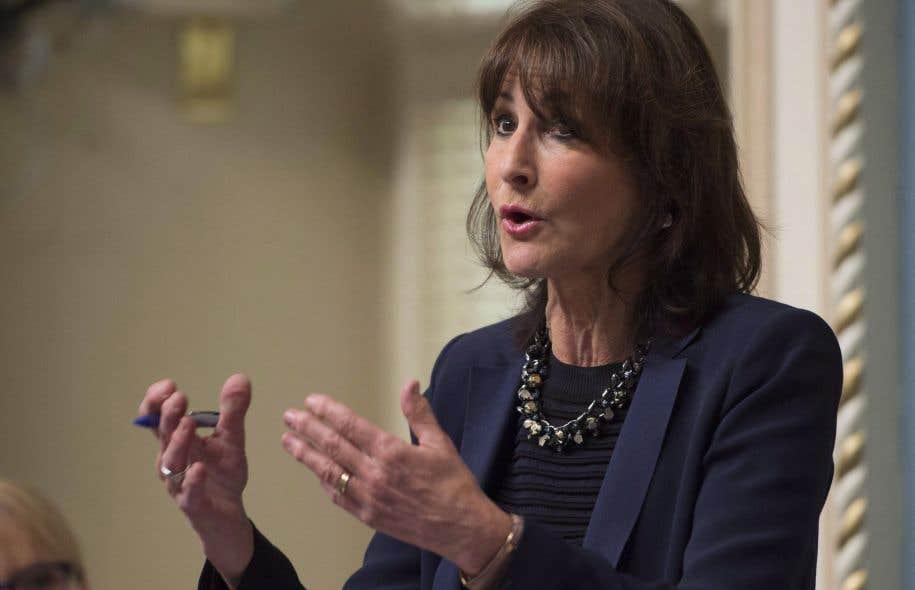 La ministre responsable des Relations avec les Québécois de langue anglaise, Kathleen Weil