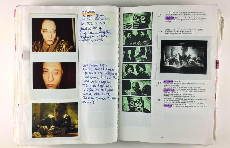 «Storyboard» de Caro pour «La cité des enfants perdus» et polas de maquillage de Nathalie Tissier