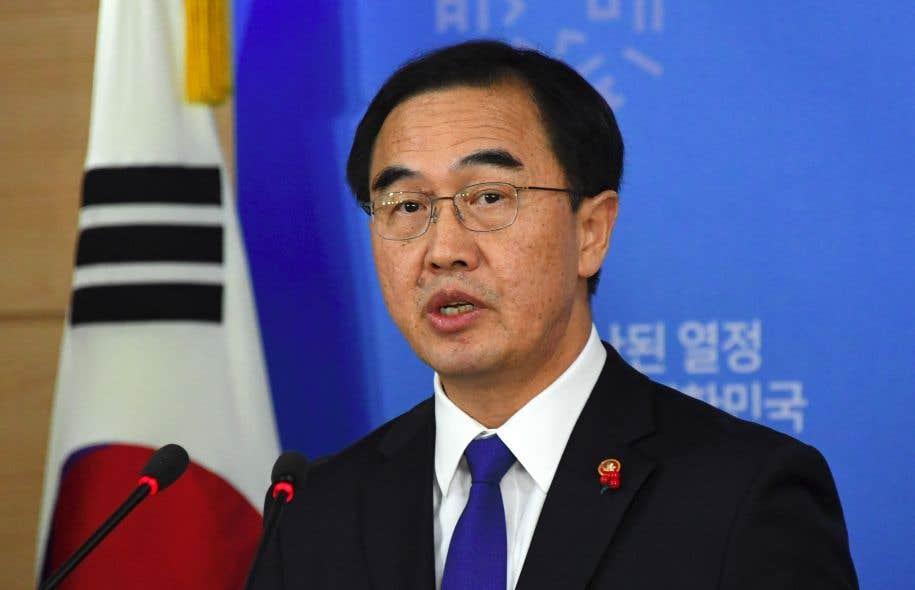 Le ministre sud-coréen de l'Unification, Cho Myoung-gyon