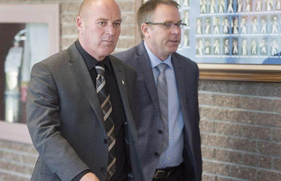 Le chef de train Thomas Harding (à gauche) est accusé de négligence criminelle dans la tragédie de Lac-Mégantic qui a coûté la vie à 47 personnes.