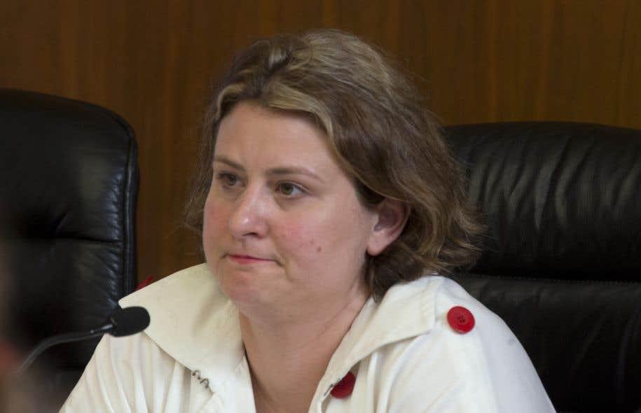 La présidente de la CSDM,Catherine Harel Bourdon, en 2015