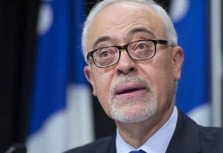 <p>Le ministre des Finances, Carlos Leitão, a présenté unemise à jour économique du gouvernement Couillard, mardi.</p>