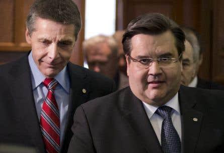 Le président du comité exécutif, Pierre Desrochers, et le maire Denis Coderre