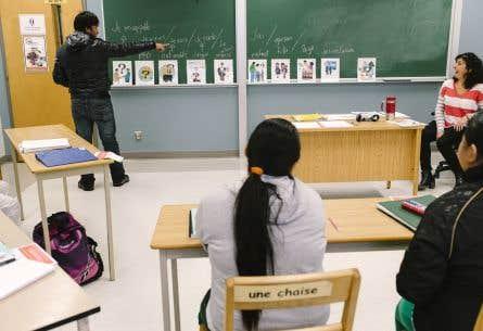 Entre 2010 et 2013, à peine 30,9% des quelque 50 000 immigrants âgés de 16 ans et plus ne parlant pas français avaient participé à des cours de francisation.