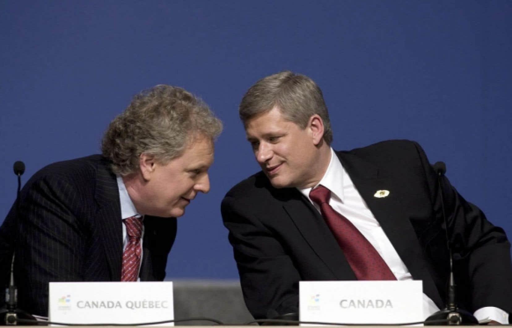 L&rsquo;entente que Jean Charest et Stephen Harper annonceront aujourd&rsquo;hui &agrave; Qu&eacute;bec se sera conclue 15 jours apr&egrave;s la date promise par les conservateurs lors de la derni&egrave;re campagne &eacute;lectorale. <br />