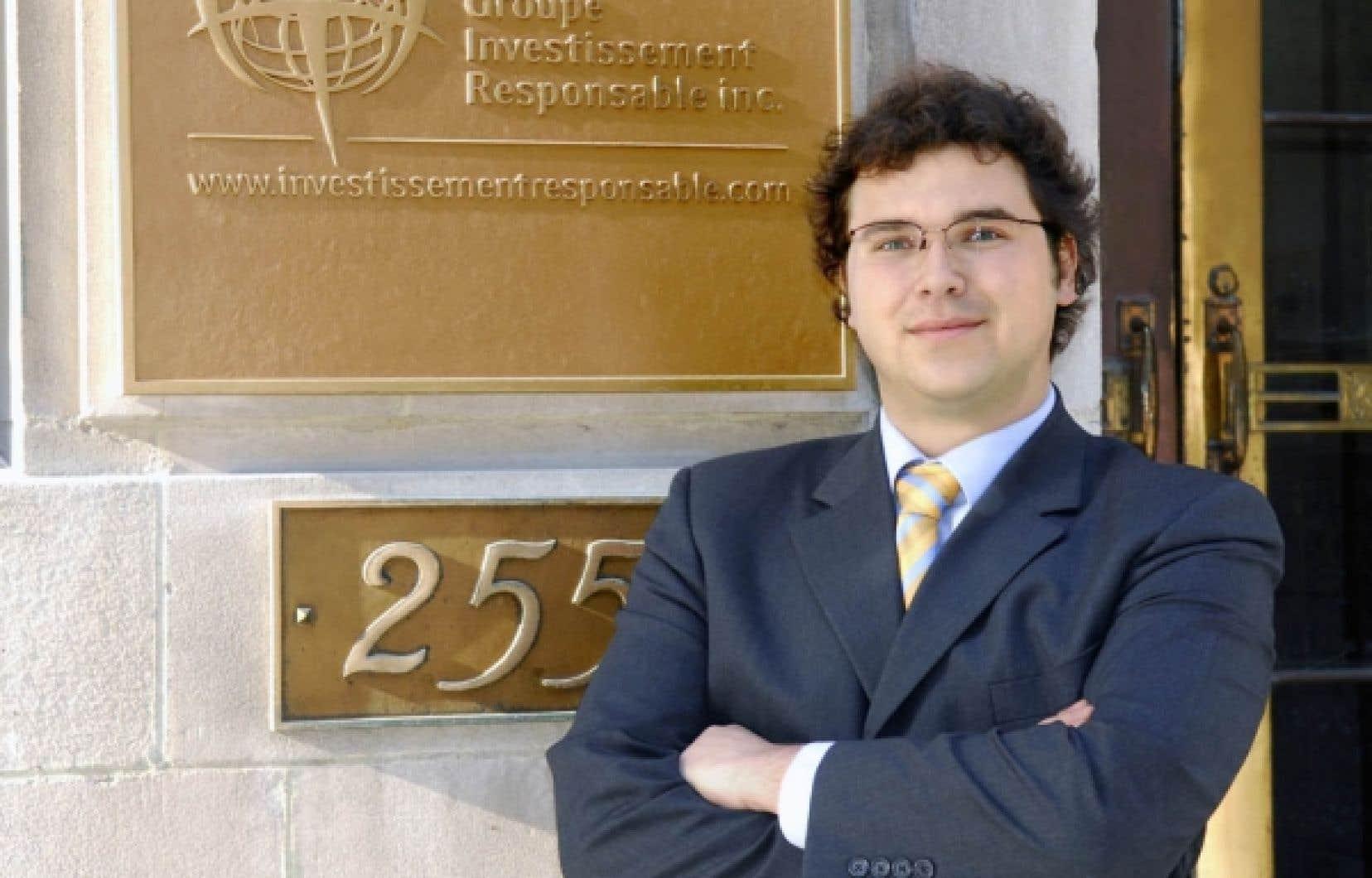 Olivier Gamache, président-directeur général du Groupe investissement responsable (GIR) <br />