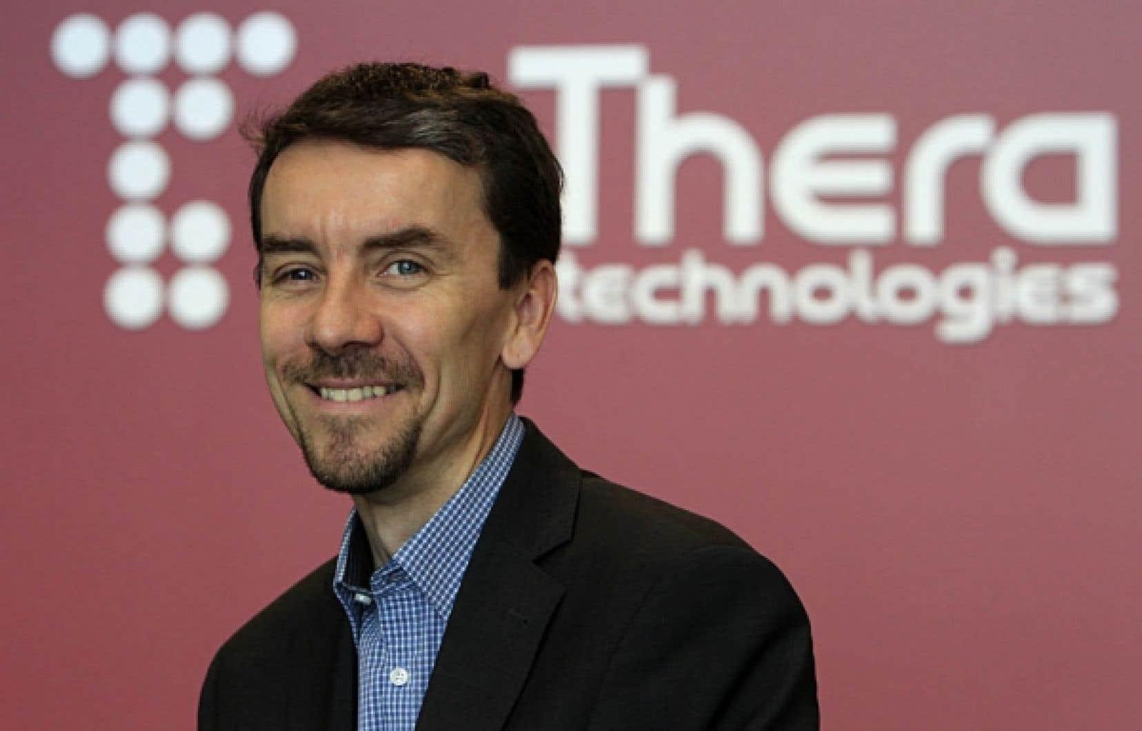 John-Michel Huss, président et chef de la direction de Theratechnologies<br />