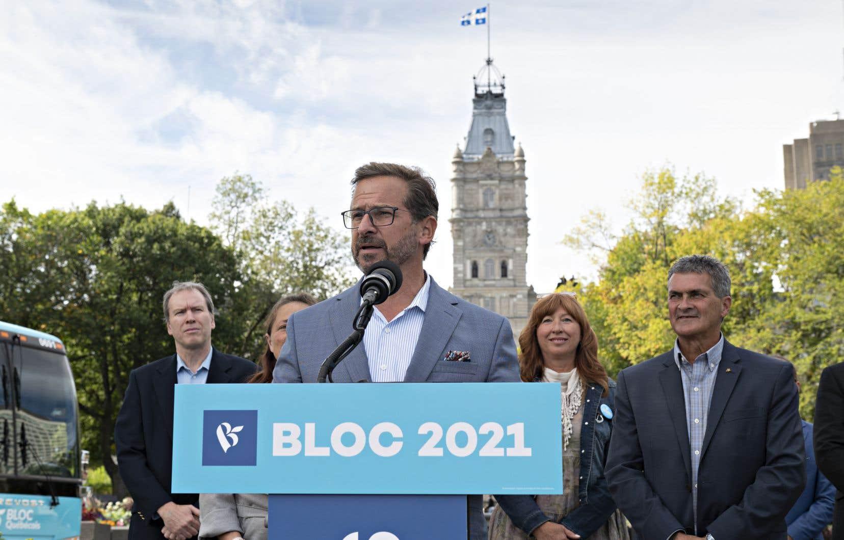 En conférence de presse samedi à Québec, le chef bloquiste a estimé que certains des quatre chefs des grands partis jouent leur avenir politique.