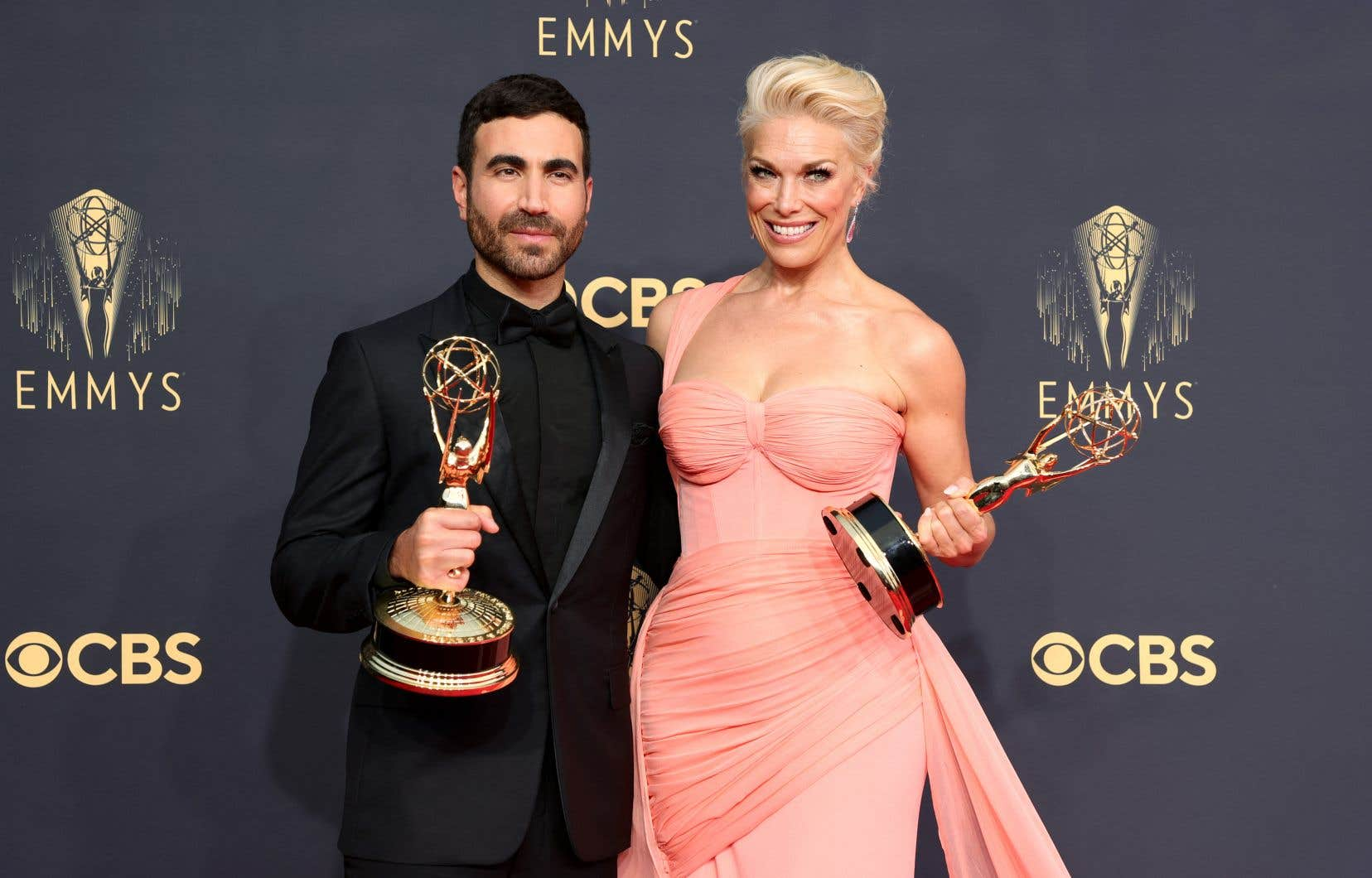 Les premières récompenses de la soirée sont allées à Apple TV+ pour «Ted Lasso», avec des Emmys pour de seconds rôles à Hannah Waddingham et Brett Goldstein.