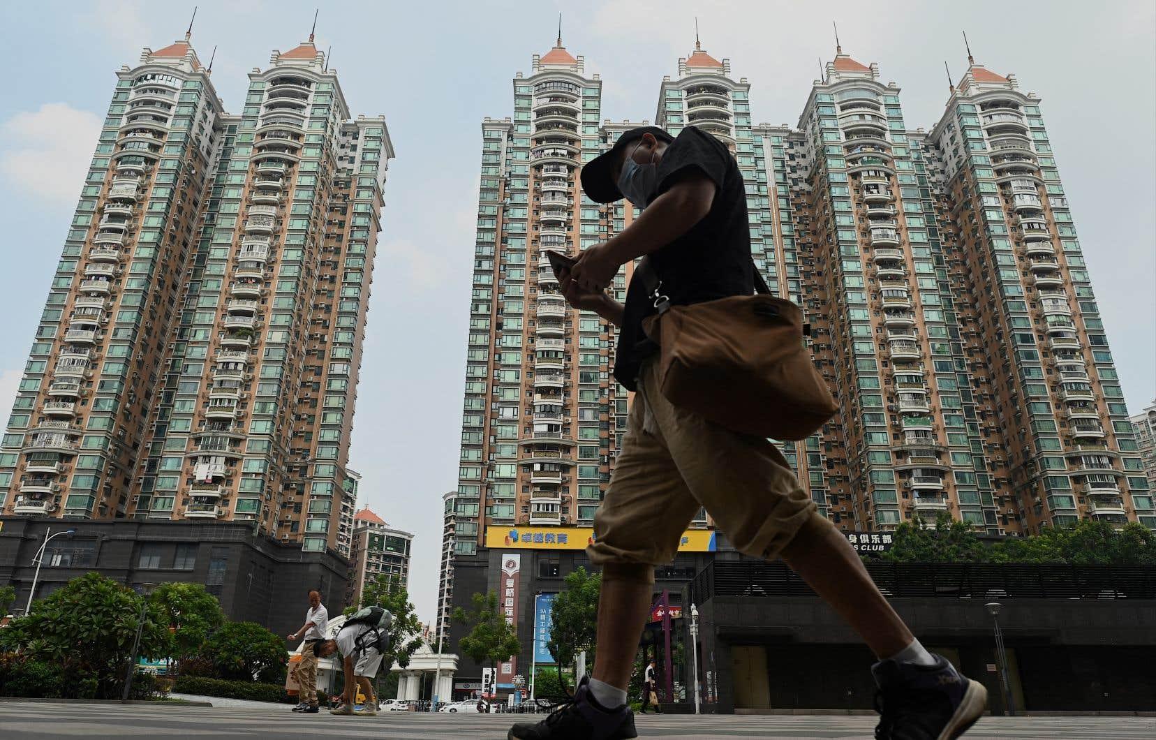 Le promoteur immobilier chinois Evergrande fait face cette semaine à plusieurs échéances financières. Sur la photo, un complexe d'habitation construit par l'entreprise, à Guangzhou.