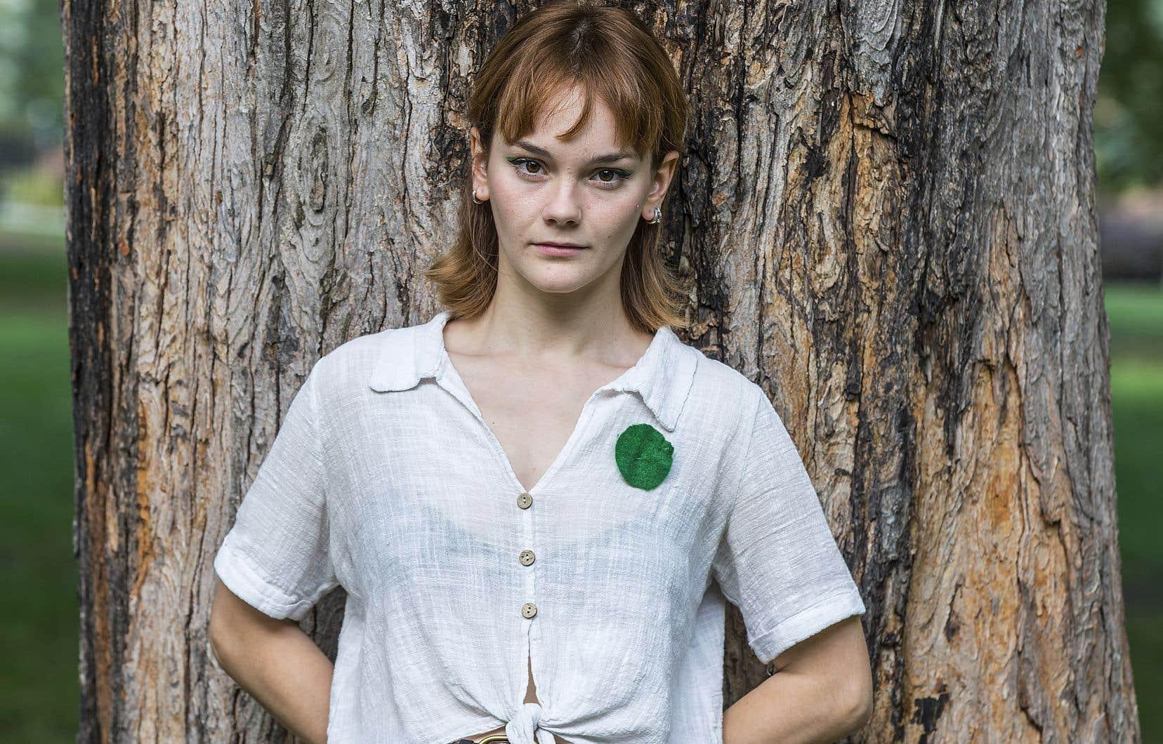 Rosalie Thibault, militante au sein du regroupement La Planète s'invite à l'Université
