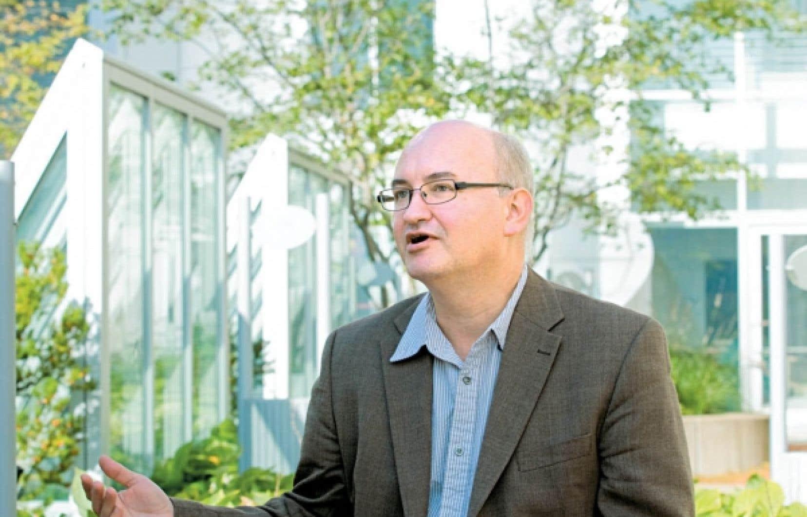 Patrick Soriano, du Service de l'enseignement des méthodes quantitatives de gestion<br />