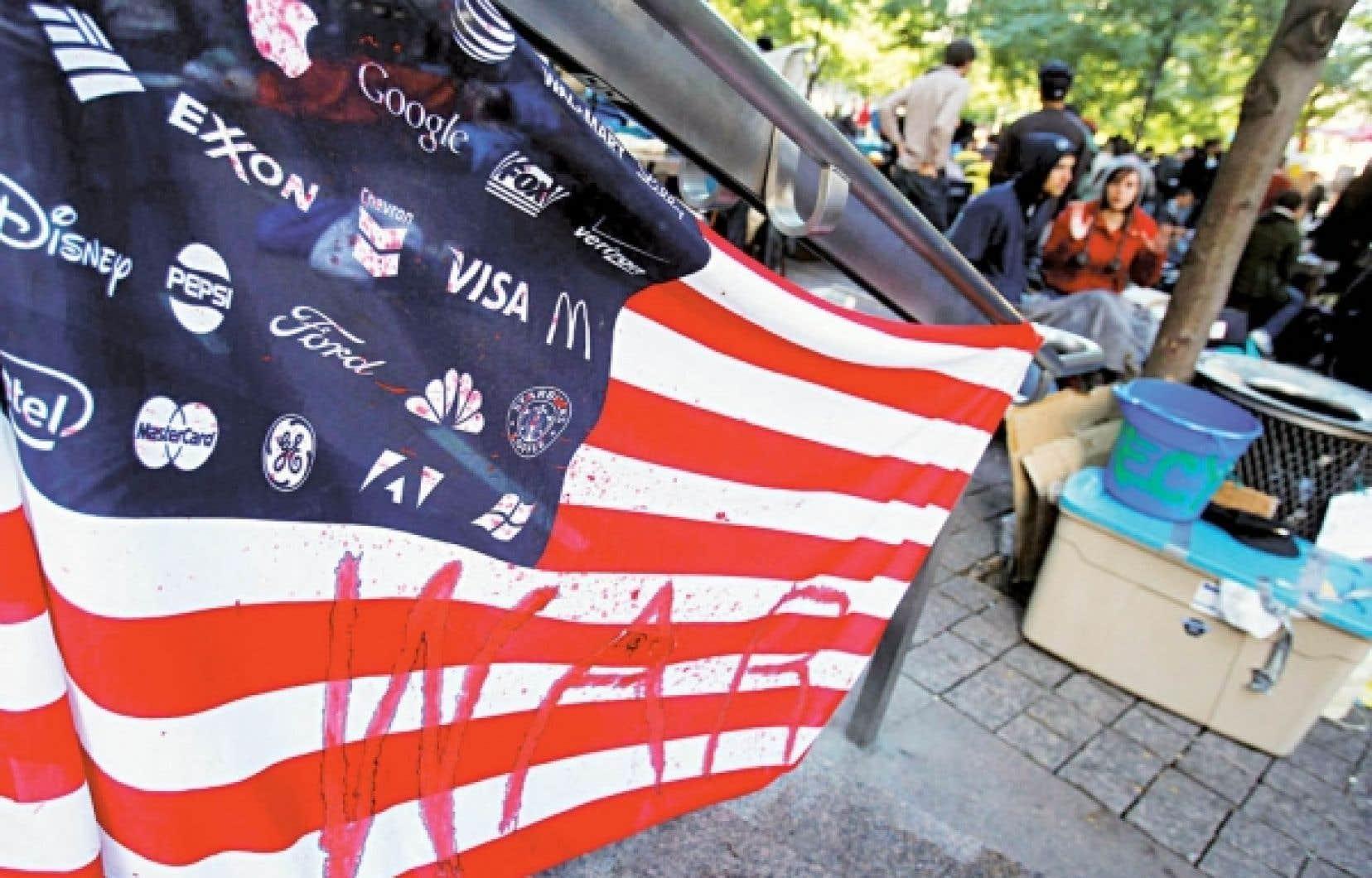 Photo prise dans le parc Zuccoti qu'occupent les manifestants anti-Wall Street.<br />
