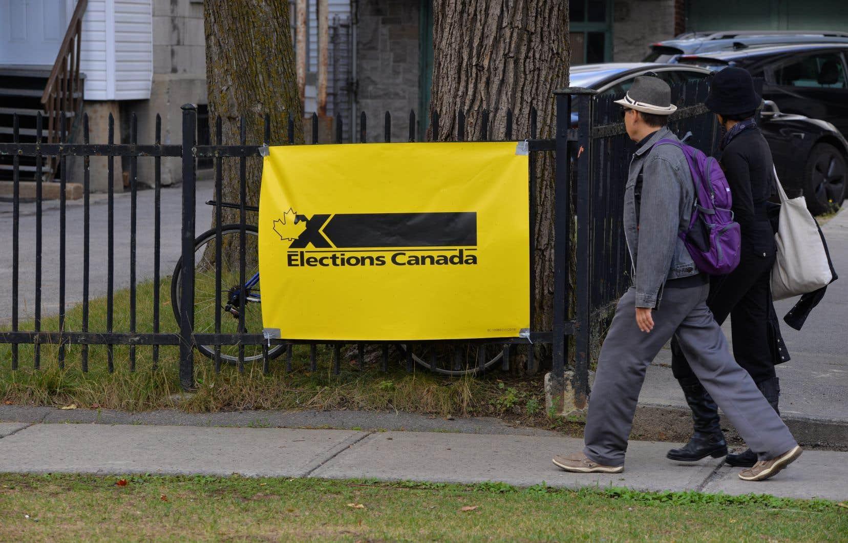 Le résultat sera annoncé sur le site web d'Élections Canada à la fin du processus.