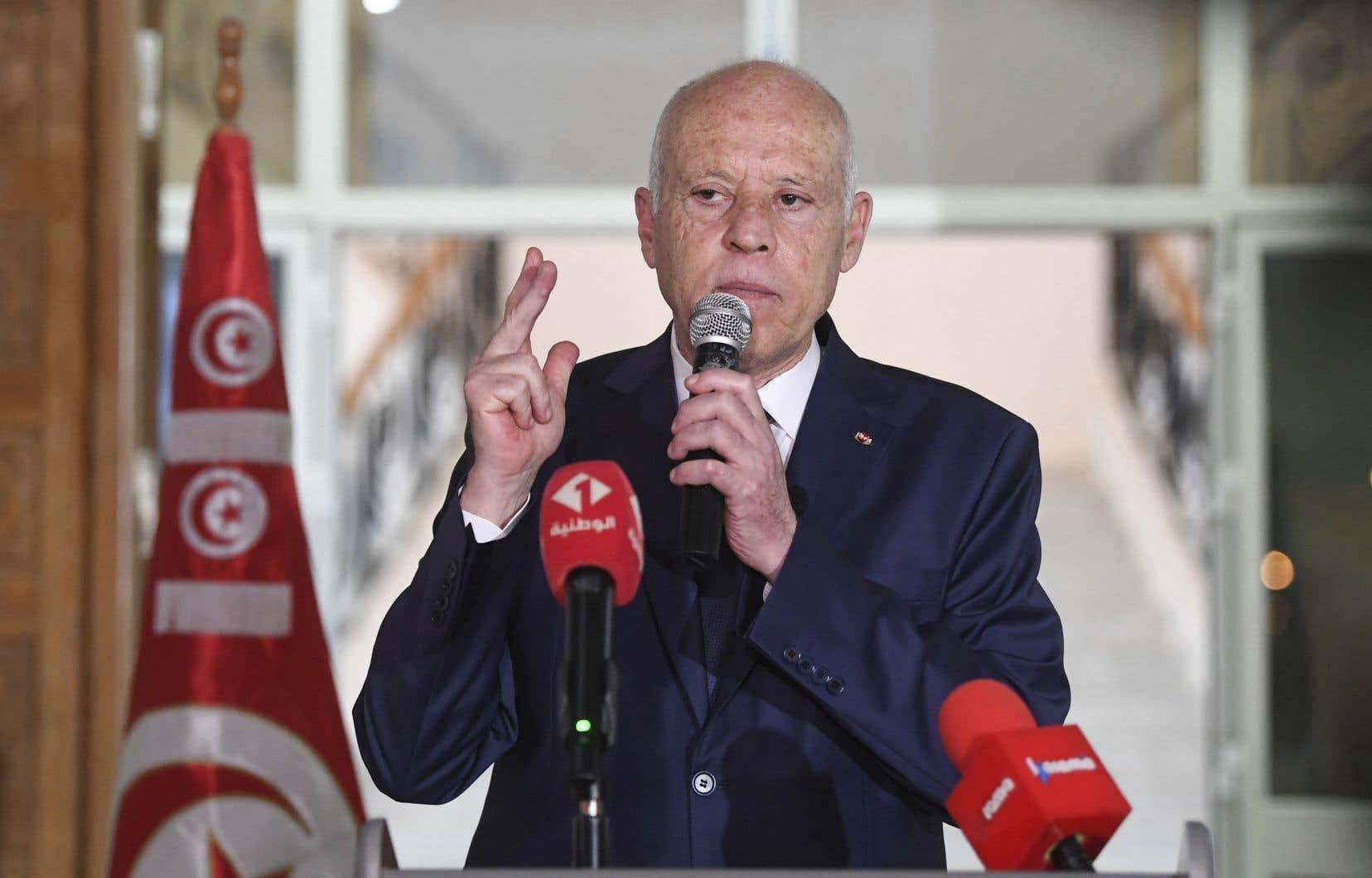 Le président de la Tunisie, Kais Saied