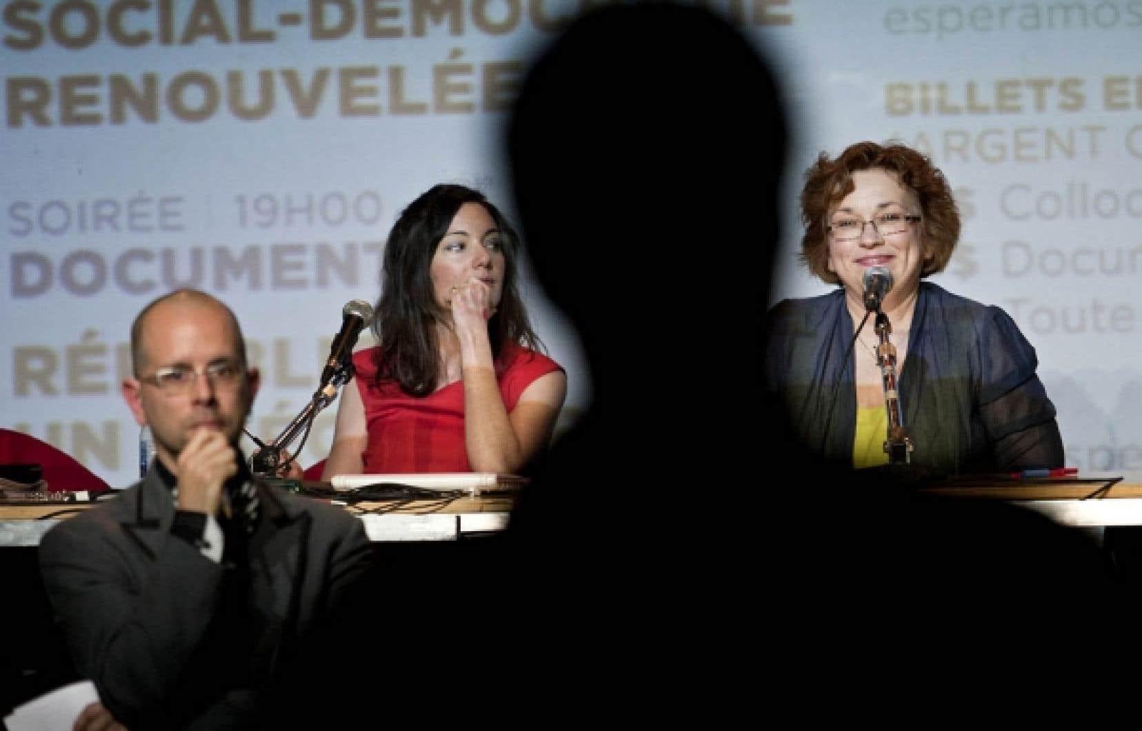Sophie Heine et Josée Boileau lors du colloque.<br />