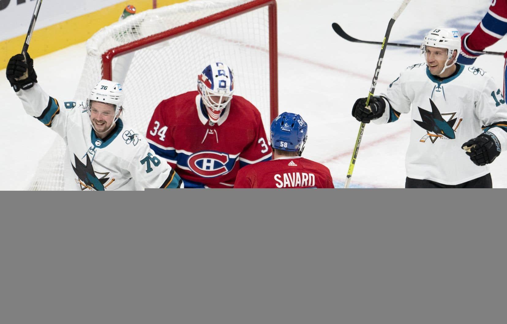 Les Sharks frappent tôt deux fois et se moquent du Canadien, 5-0