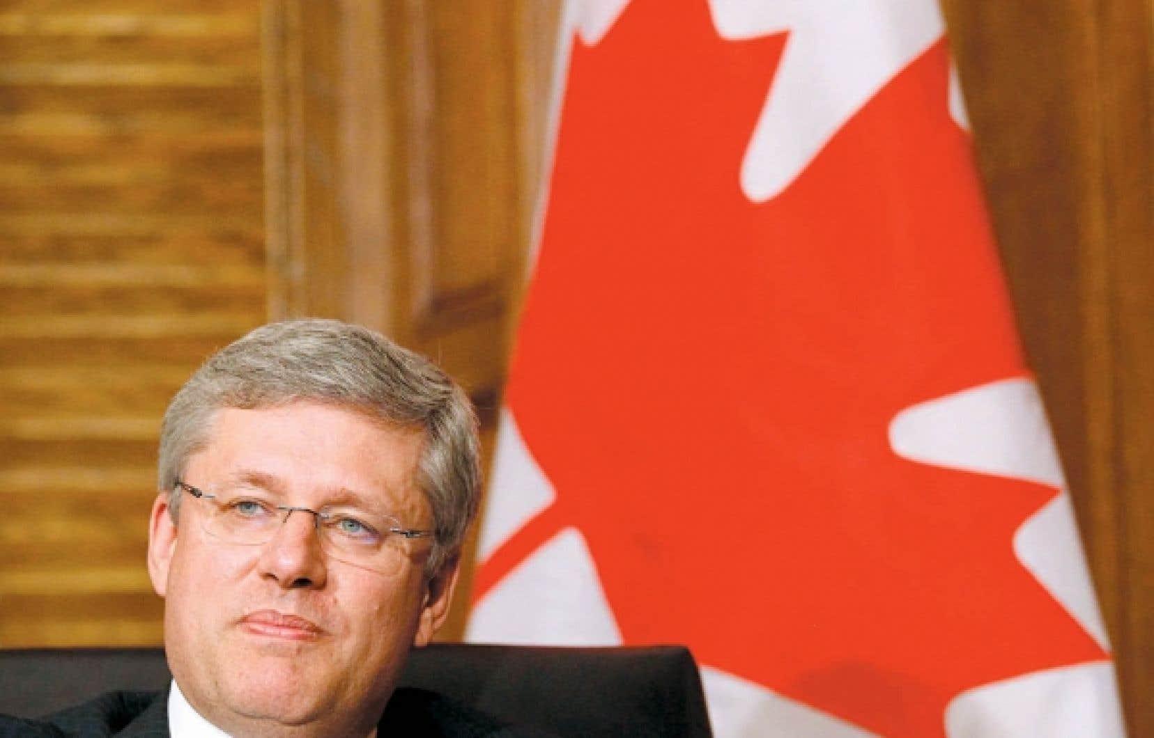 Le premier ministre canadien, Stephen Harper<br />