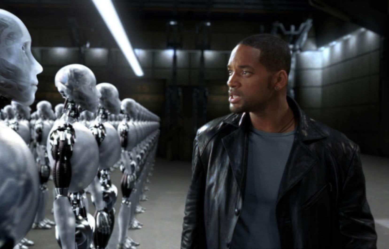 Une scène du film Les robots (I, Robot) d'Alex Proyas (2004).