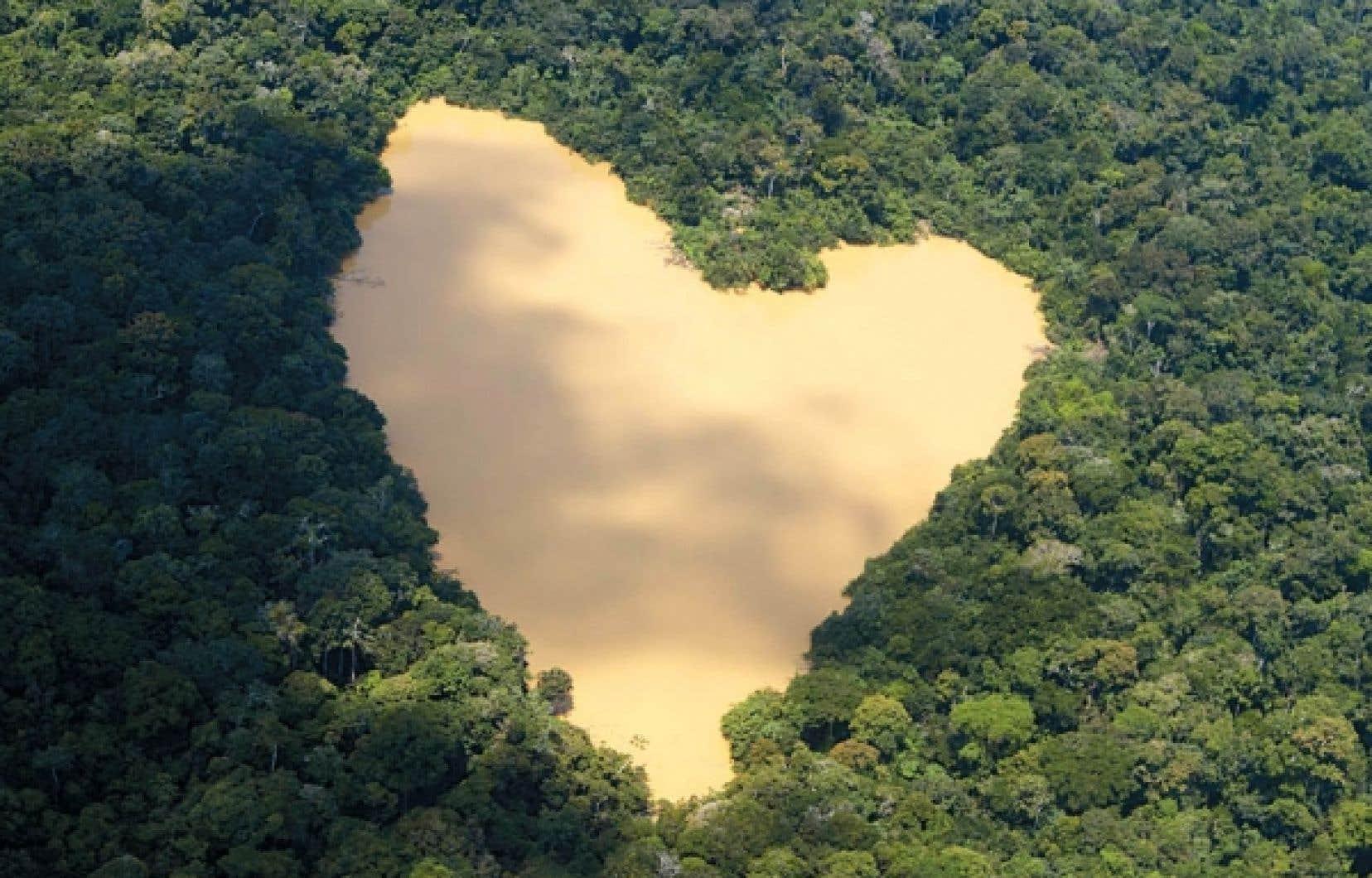 Un lac alimenté par une source du bassin de l'Amazone. L'Amazonie est sur la liste des sept sites retenus comme merveilles de la nature à la suite d'une consultation lancée à 2007.<br />