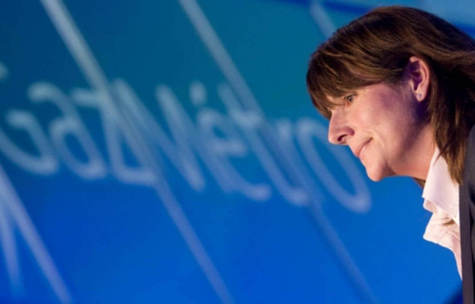 Sophie Brochu: Les mauvaises nouvelles, «c'est épeurant et, à un moment donné, ça tue l'entrepreneuriat.»<br />