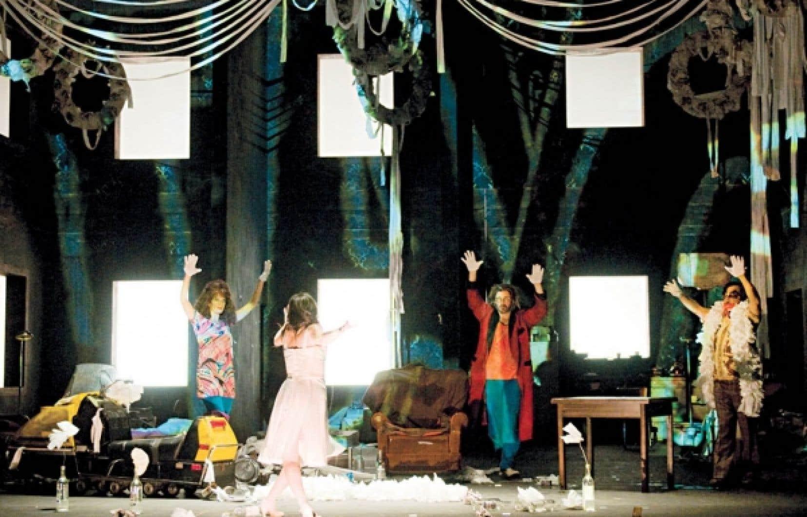 Une scène de HA ha!... de Réjean Ducharme au TNM <br />