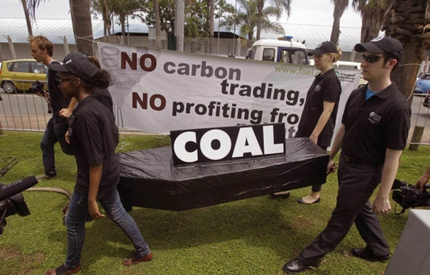 Une manifestation s'est tenue hier à Durban, en Afrique du Sud.<br />