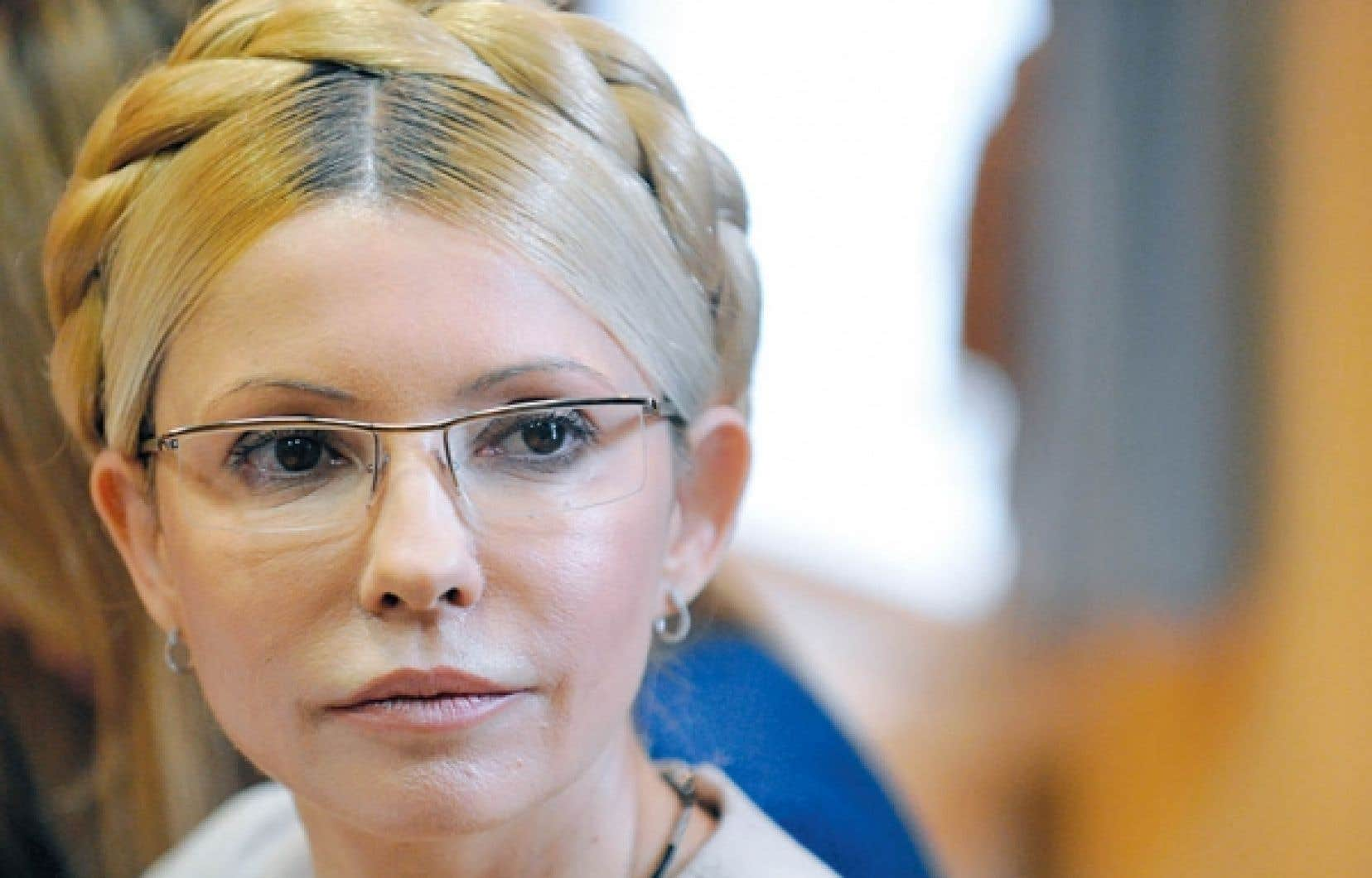 Ioulia Timochenko lors de son proc&egrave;s en octobre<br />
