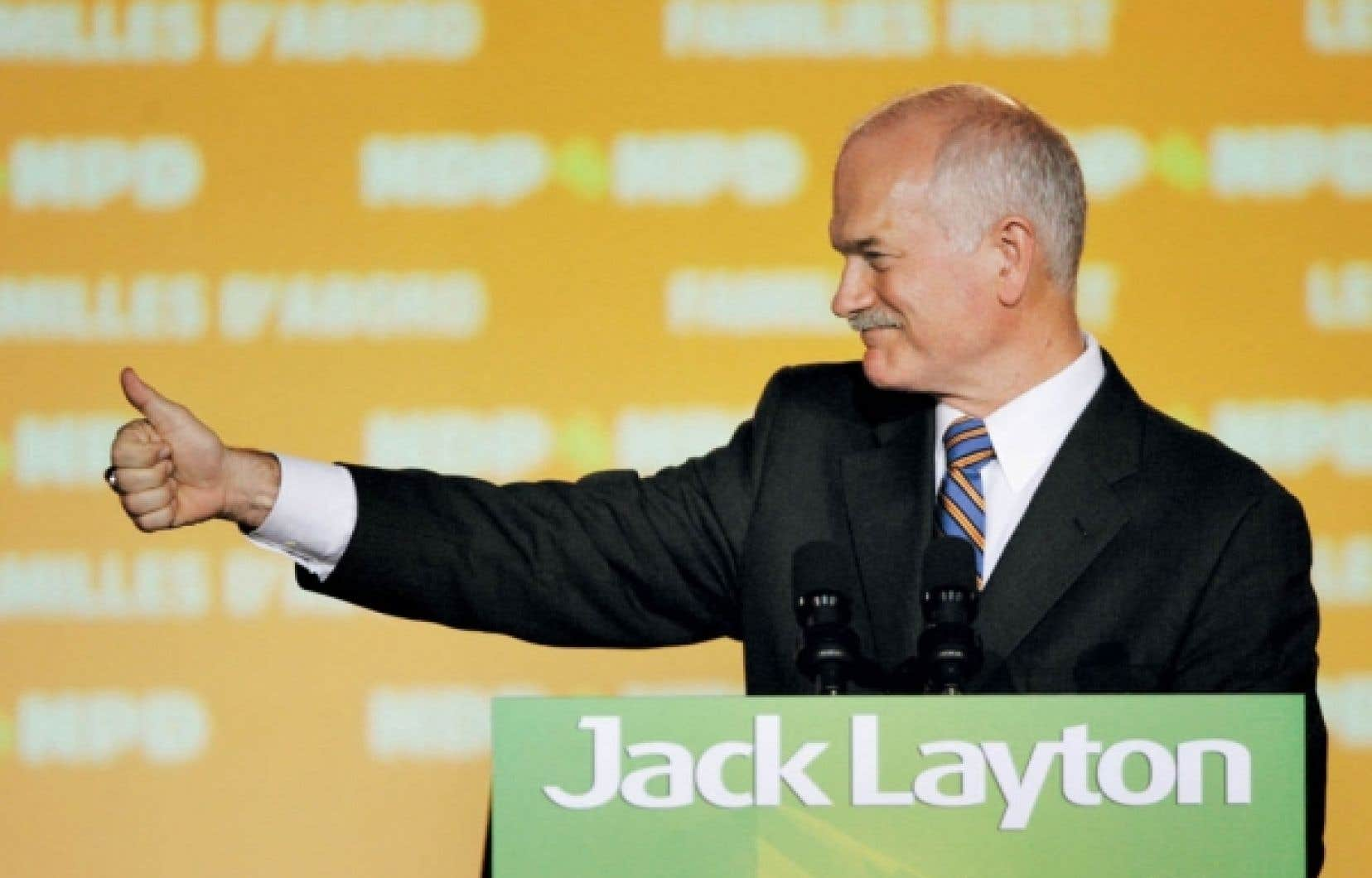 Le NPD de Jack Layton n'a laissé que des miettes à ses adversaires au Québec. <br />