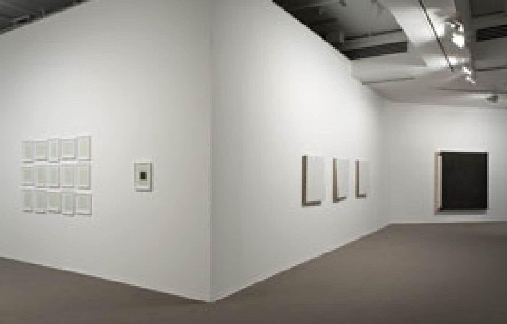Les quatorze oeuvres de Retracer la peinture s'avèrent un juste et bel éloge d'un univers rigoureusement ambitieux, porté sur la touche minimale d'un geste, celui du peintre, d'une couleur, le blanc, et, surtout, oserons-nous dire, d'un déf
