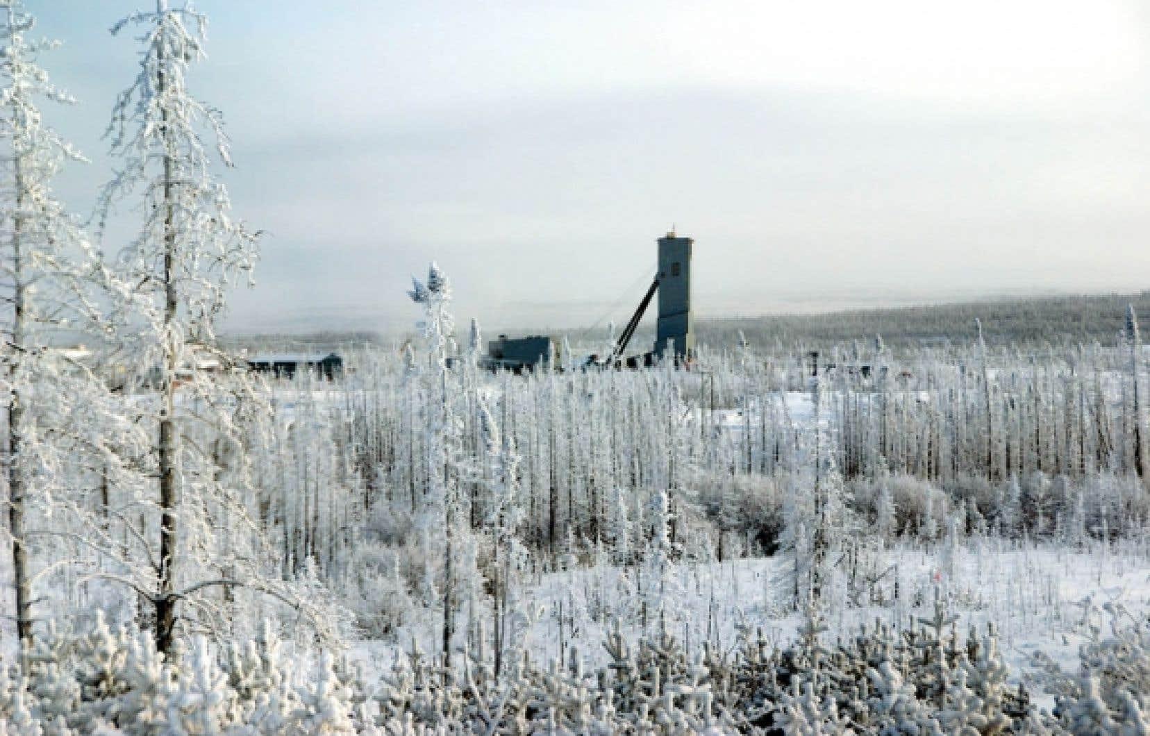Goldcorp développe actuellement le site Éléonore, où elle souhaite amorcer l'extraction d'or d'ici décembre 2014, pour une production estimée à 600 000 onces par année, sur une période de 20 ans. La construction d'une route, à un coût estimé à près de 40 millions, offrirait un accès permanent au site.<br />