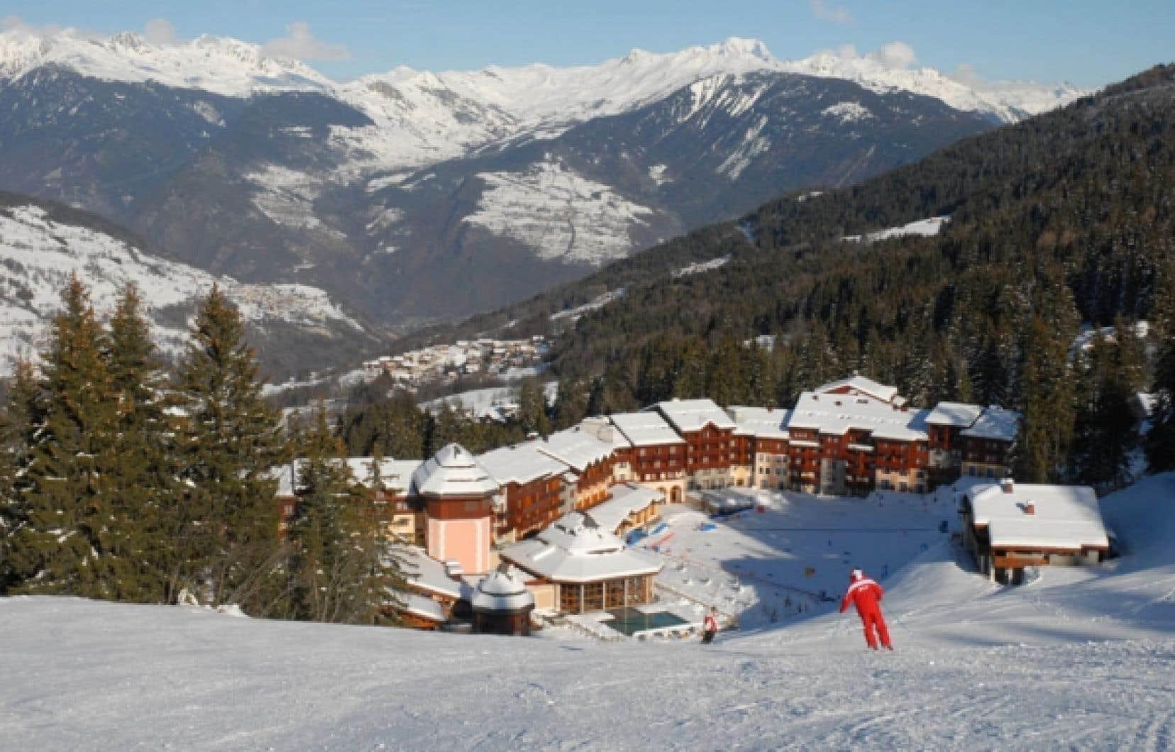 Le Club Med et, en arrière-plan, le mont Blanc<br />