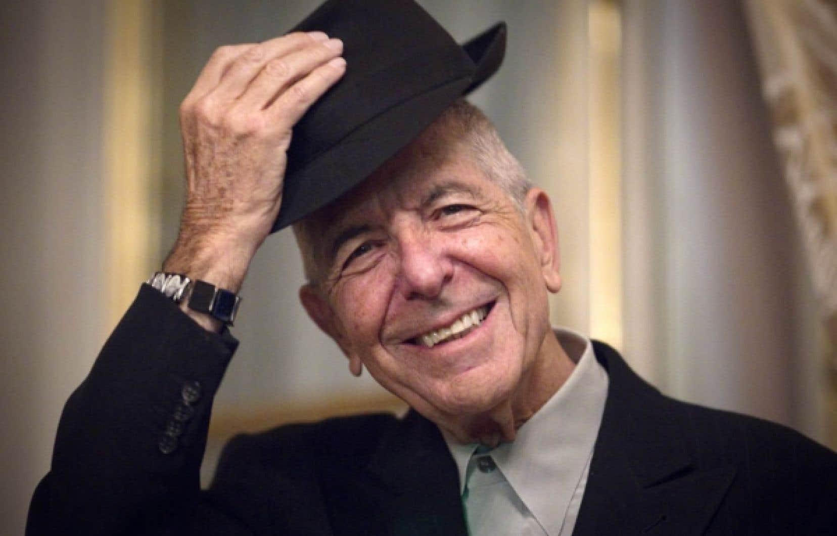 Leonard Cohen lundi dernier à Paris, lors du lancement de son nouvel album.<br />