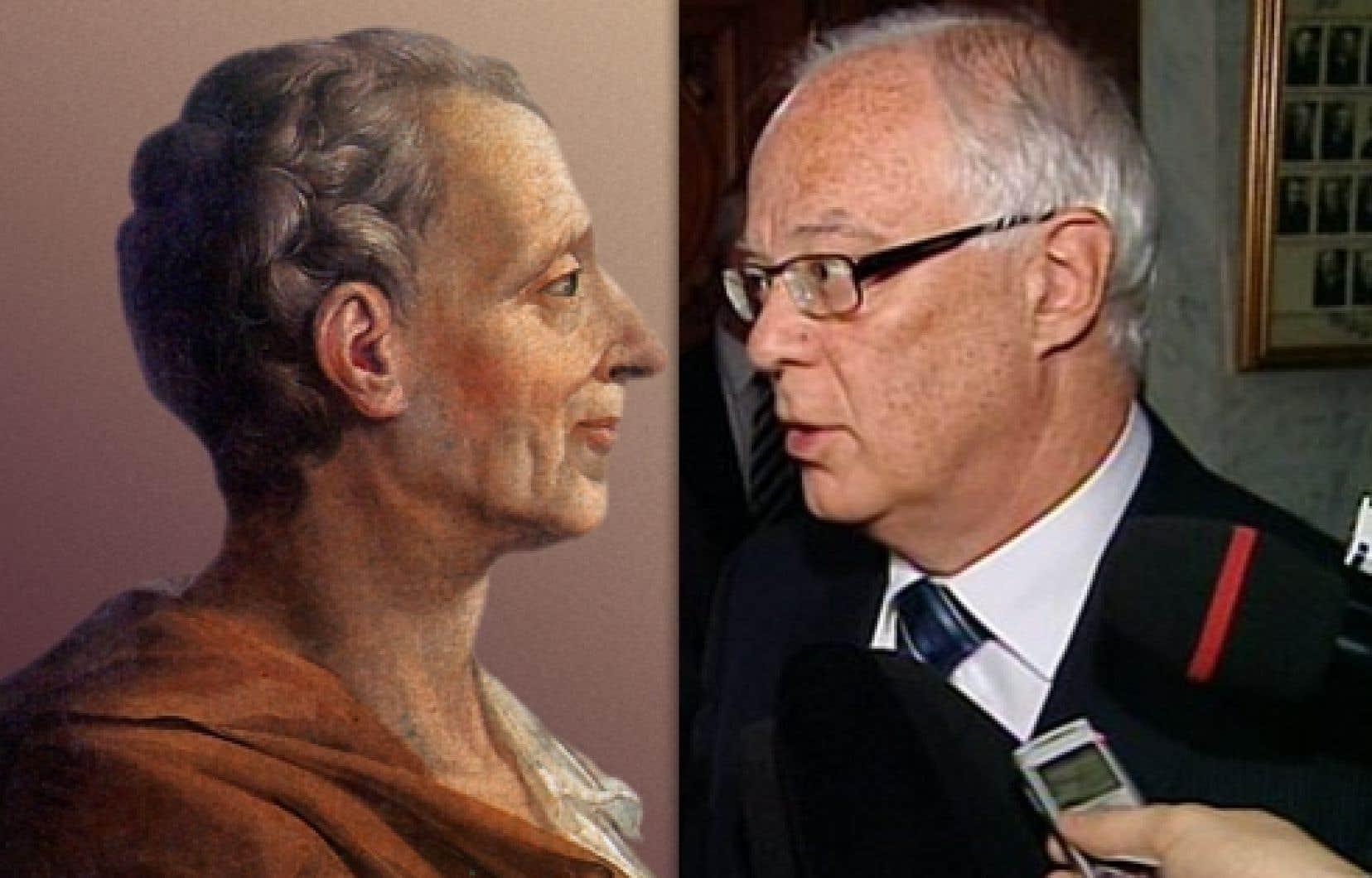 Montesquieu et Robert Dutil...