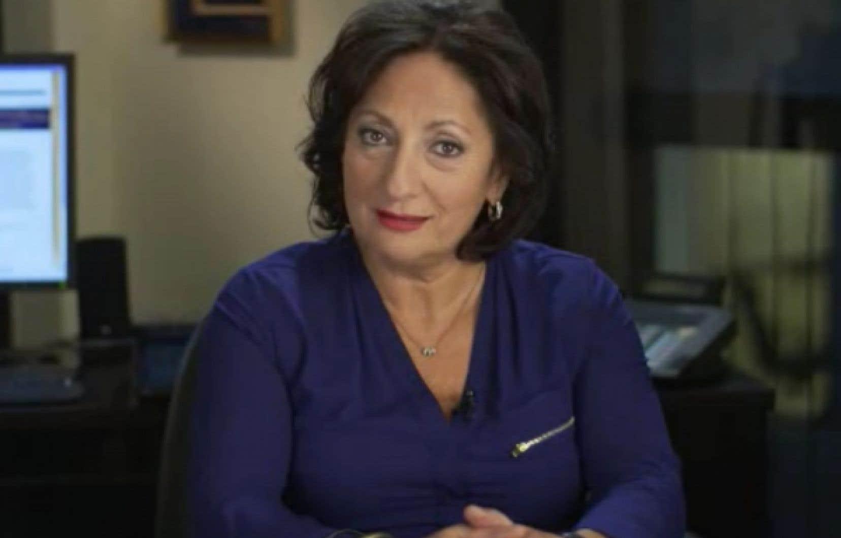 La juge Charbonneau a lancé son appel sur vidéo.